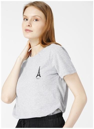 Limon Company Limon Paris Gri Melanj Kadın T-Shirt Gri